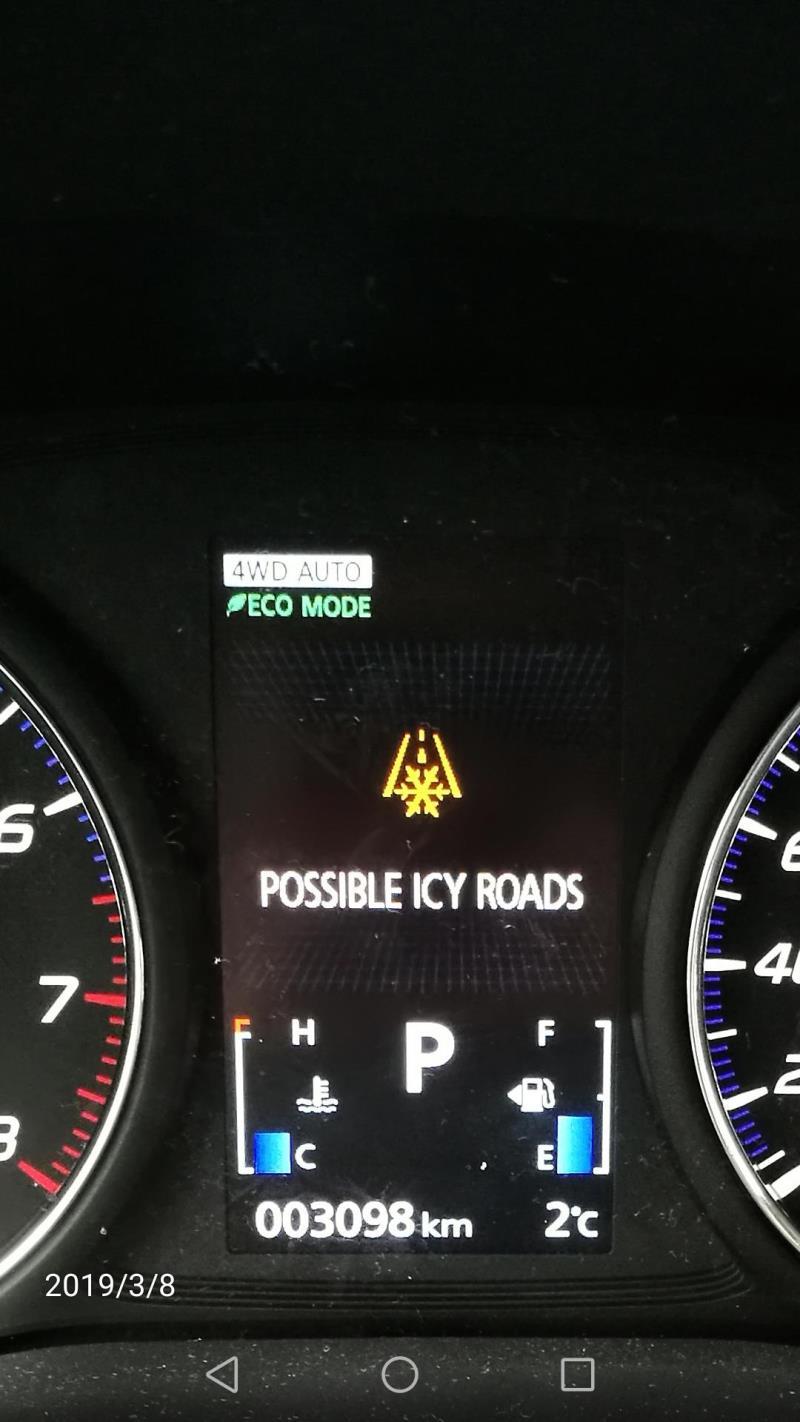 欧蓝德,麻烦谁知道这个雪花图样和下面英文是什么意思,行车过程中会时不时提示